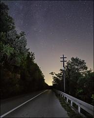 \.+^. (OverdeaR [donkey's talking monkey's nodding]) Tags: road night stars starry