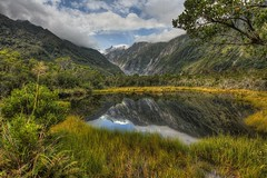 Peter's Pool at Franz Josef Glacier (No.2) (1982Chris911 (Thank you 1.250.000 Times)) Tags: reflection canon eos mirror day cloudy 7d eos7d canoneos7d canon7d