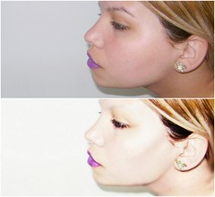 (Trendy W) Tags: selfportrait girl photo purple photograph trendy lipstick sideview pohotoshop trendyendy trendyw