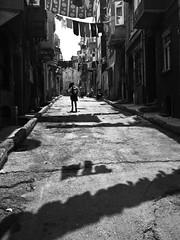 schoolgirl // tarlabasi, istanbul (pamela ross) Tags: street shadow girl pen linen olympus istanbul line schoolgirl ep1 tarlabasi