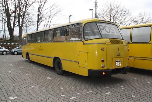 Magirus 150 LS 12 Postbus dann mobiles Postamt als historisches Fahrzeug bei Kollegen im Verein