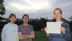 Kylie,Richard&Debby, Camp Hill, Brisbane, Australia (endoftheicons) Tags: sumatra orangutan deforestation palmoil tripa internationaldayofaction