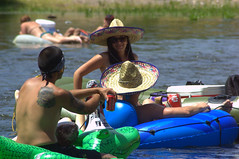 (ONE/MILLION) Tags: arizona people water phoenix river mexico fun photo google interesting colorful suits flickr image outdoor watch salt hats images mexican latino bathing capture tubing find onemillion my williestark