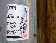 I'm a two trick pony (-Curly-) Tags: streetart art graffiti sticker stickerart curly