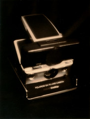 SX-70, craziest SLR ever (O9k) Tags: stilllife slr film analog studio polaroid sx70 chocolate softfocus linhof analogue standard choco largeformat 104 cameraporn plasticlens makeshiftlens kardan