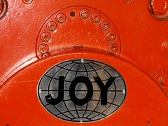 Thats a Joy! (oildrum1) Tags: england industry metal museum underground logo drive chains mine industrial drum britain steel yorkshire joy machine mining chain machinery electricity wakefield british motor pick coal trademark electrical gears cog cutter miner picks coalmine colliery miningmuseum miningequipment ncb shearer ncm longwall coalfield coalface nationalcoalminingmuseum caphousecolliery coalcutter ncmme joyminingequipment longwallcoalface