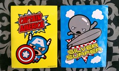 Marvel Kawaii Art Collection Stickers (xClaribelx) Tags: storm phoenix stickers spiderman ironman kawaii silversurfer thor marvel captainamerica wolverine thehulk