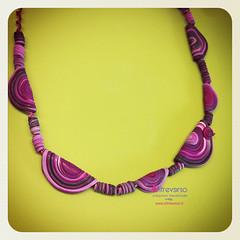 Collana di fimo - polimery clay necklace (OltreversoLab) Tags: pins polymerclay fimo fimojewelry fimocane fimobijoux fimopate pastepolimeriche fimopins pateàfimo