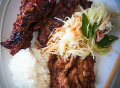 Father's Day Lunch (SodanieChea) Tags: lighting food color art photography rice vibrant delicious foodporn ribs koreanbbq papayasalad porkribs 28135mmf3556 canon5dmarkii