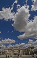 Architectural Clouds (Lourens SA) Tags: madrid blue sky building nature architecture clouds nikon vivid tokina 1116 d7000