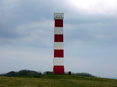The Gribbin Daymark (Worthing Wanderer) Tags: grey coast spring cornwall cloudy path windy cliffs april dull polkerris southwestcoastpath