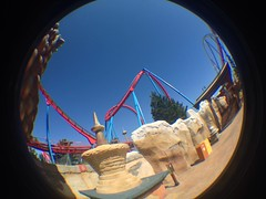 China/Dragon Khan (CoasterMadMatt) Tags: china park parque espaa fish eye primavera port de lens photography amusement spring spain foto dragon distorted photos may fisheye roller mayo rollercoaster khan montaa coaster themepark aventura espaol dragonkhan fisheyelens atracciones iphone fotografa fotografas portaventura rusa montaarusa parquetemtico 2013 coastermadmatt uploaded:by=flickrmobile flickriosapp:filter=nofilter