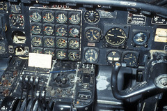 Convair B-36J Peacemaker cockpit (exemplar77) Tags: electric plane airplane major big wasp general engine cockpit whitney stick peacemaker bomber instruments pratt b36 convair prattwhitney b36j j47
