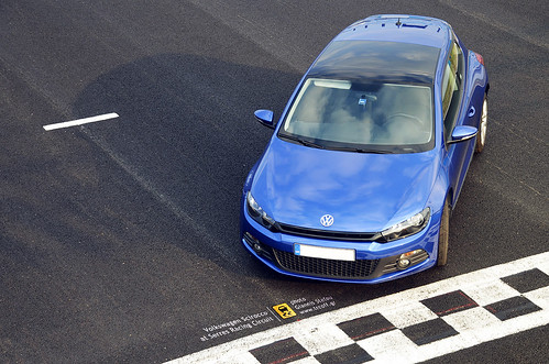 Volkswagen Scirocco at the track
