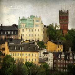 A Piece of Stockholm (Milla's Place) Tags: city buildings cityscape sweden stockholm textures textured millasplace distressedjewell kerstinfrankart