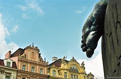 Prague ( www.borais.com) Tags: city travel europe european prague prag landmark center tschechien tschechischerepublik tschechische czechrepublic sight zentrum fuss janhusdenkmal oldtimesquare altstdterrathausplatz