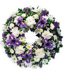 FTD Blue & White Wreath (dobdeals.com) Tags: flowers wreaths eventsupplies