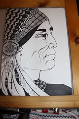 brave new world 2 (phoebe_rose_smith) Tags: art illustration drawing nativeamerican savage bravenewworld