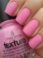 Unrefined - China Glaze (Jeh Goudel) Tags: china pink texture sand rosa glaze liquid unha esmalte unrefined