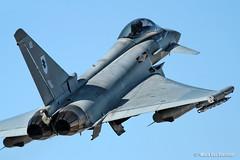 Eurofighter Typhoon  FGR4 (mvonraesfeld) Tags: las vegas red plane exercise flag aviation military nevada flight jet eurofighter takeoff typhoon raf 133 afb nellis ef2000 img5750 fgr4 zj912
