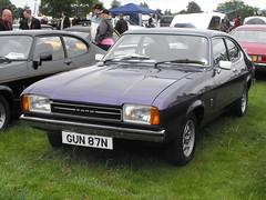 Ford Capri XL - GUN 87N (Andy Reeve-Smith) Tags: uk ford capri bedfordshire luton stockwoodpark 2013 lutonfestivaloftransport