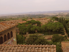 Tile roofs in San Gimignano (Rick Payette) Tags: italy tile roofs tuscany s110