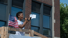 Speaker at rally to Close the Gaps (Fibonacci Blue) Tags: twincities rally march demonstration civil right gap close mlk martin luther king washington anniversary event minnesota voting education speaker activism activist mpls minneapolis