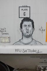 Relish Today (Rainier Beer 12oz) Tags: road railroad art train graffiti graf tracks rail trains graff monikers moniker