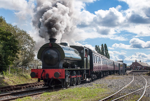 Smoke, steam and sunshine (geoffspages) Tags: railway steam chasewater austerity hunslet