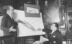 Gov Nelson Rockefeller planning  fall out shelters 1960s  albany ny (albany group archive) Tags: albany old vintage ny historic governor nelson rockefeller 1960s fallout shelter oldalbany history