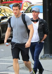 (ManontheStreet2day) Tags: park male chest hunk jeans shorts biceps stud bulge