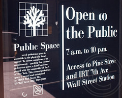 POPS027: Covered Pedestrian Space Sign, 60 Wall Street - Deutsche Bank, Financial District, Downtown Manhattan, New York City (jag9889) Tags: park plaza city nyc ny newyork tower public architecture publicspace skyscraper office downtown manhattan space financialdistrict owned resolution 1989 deutschebank pops 27 lowermanhattan concession zoning jpmorgan popos variance privatelyownedpublicspace 2013 privately 60wallstreet jag9889
