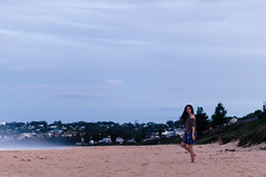 . (danielle kiemel) Tags: ocean autumn sunset sea portrait people mist motion beach me water girl female night landscape outdoors freedom evening flickr solitude dusk small young longhair australia nsw april newsouthwales bluehour centralcoast breeze emotive 50mmf14 2012 seamist terrigal wamberal daniellekiemel wamberalbeach nikond5000
