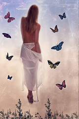 Fine Art - Dreamy walking... ( rd ) Tags: portrait sky woman white abstract art girl fashion vertical butterfly naked donna glamour nikon skin fineart fine dream lingerie dreamy beyond dreamlike ritratto towards nuda pelle ragazza verticale astratta sogno farfalle onirico d700 sognante