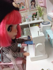 Ollie trying new sewing machine :)