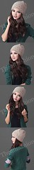 HW-0003-หมวกไหมพรมโครเชต์ลายละเอียดใส่กระชับศีรษะและใบหูอบอุ่นเรียบหรูมีสไตล์-สีน้ำตาลอ่อน