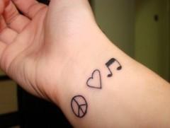 Peace Heart Music Tattoos On Wrist 020 (tattoos_addict) Tags: music peace heart tattoos wrist 020 hearttattoos