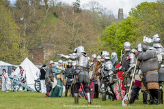 [2014-04-19@15.09.26a] (Untempered Photography) Tags: history costume helmet battle medieval weapon sword knight shield tor armour reenactment combatant chainmail watercarrier glastonburytor canonef50mmf14 perioddress polearm platearmour gambeson poleweapon mailarmour untemperedeye canoneos5dmkiii untemperedeyephotography glastonburymedievalfayre2014