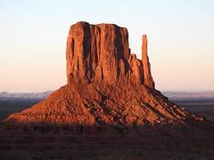 P900  1361ex  West Mitten (jjjj56cp) Tags: sunset arizona rock utah p900 highdesert navajo monumentvalley rockformations coloradoplateau navajotribalpark themittens navajotriballand triballand jennypansing