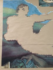 Michelangelo: The Creation of Adam - progress #3 (closeup) (Danijel Legin) Tags: adam puzzle jigsaw michelangelo ravensburger 12000