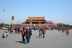 Forbidden City (zenseas : )) Tags: china travel vacation holiday beijing palace blueskies   forbiddencity tiananmensquare tiananmen chairmanmao maozedong