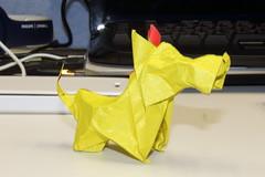 Little Terrier (Heddgee) Tags: chien art origami papier pliage