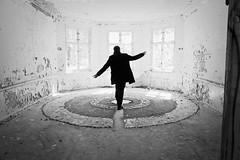 Sanatorium G. (elisachris) Tags: blackandwhite abandoned highcontrast sanatorium brandenburg ricohgr verlassen urbex rückenfigur heilstättengrabowsee