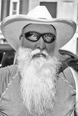 Stranger 14: Mike (sniggie) Tags: marioncounty kentucky kentuckian beard sunglasses bw smalltownusa mainstreet mustache hamdays