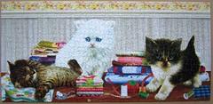 Ready to Help (Giordano) (Leonisha) Tags: puzzle jigsawpuzzle cat chat katze ktzchen kittens