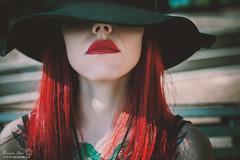 marzia9 (Grazia Mele) Tags: girl hat redhair redlips goodbye nuoro sardinia