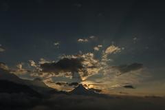 Sunbeams over Machapuchare, Nepal (Stewart Miller Photography) Tags: machapuchare unclimbed mountain himalaya nepal