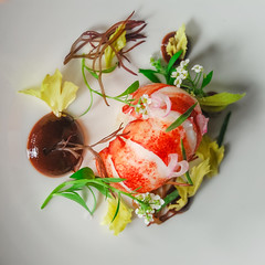 Surf (ImaginemProductions) Tags: food culinary photography photographer egg salad lobster seafood carrot beautiful colorful fish potato greens fresh forage
