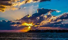 Early in Big Pine Key. (The Sergeant AGS (A city guy)) Tags: 2016 bay bigpinekey colors dawn earlyinthemorning exploration florida island keys miamifl monroecounty placesofmiami sony sonya6000 sonyselp18105g sonylens tourists unitedstates urbanexploration walking walkways waterways wideangle blue clouds sky