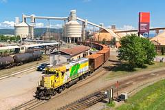 RS 67 @ Port-Alfred, QC (Mathieu Tremblay) Tags: portalfred qubec canada railroad railway chemin fer train roberval saguenay rs arpa subdivision gp403 67 shortline intrt local cfil sony a65 sal1650